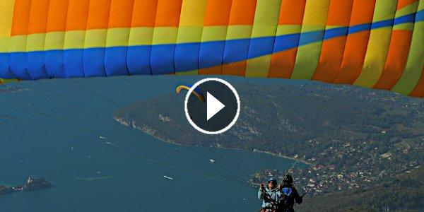 Réalisation du clip vidéo le ballet aérien des parapentes