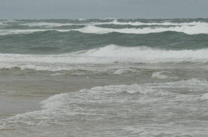 Tempête sur une plage des Landes
