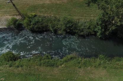 Vol drone poursuite sur canal