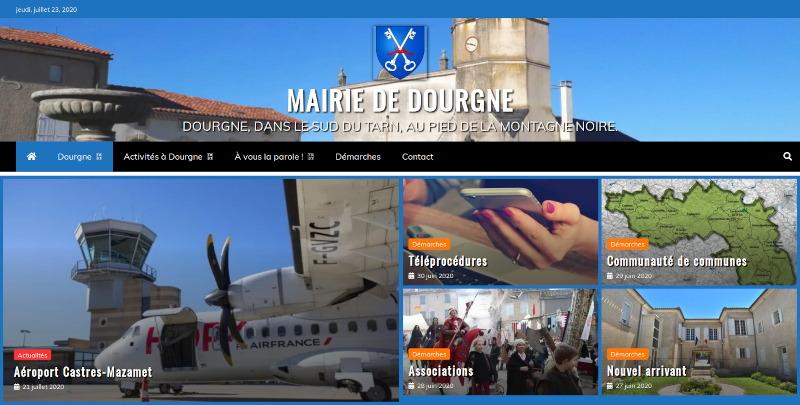Nouveau site internet de la mairie de Dourgne