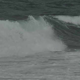 Écume de vagues en gros plan