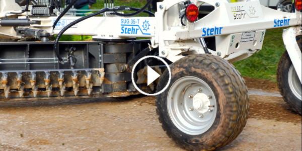 Reportage vidéo sur test pour limiter la formation de trous sur les chemins
